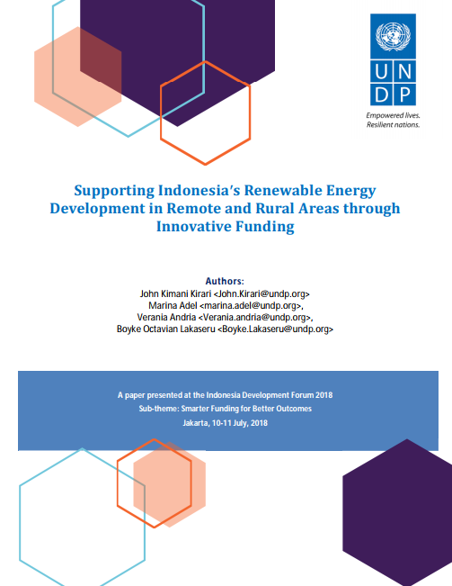 Supporting Indonesia's Renewable Energy Development in Remote and Rural Areas through Innovative Funding - UNDP